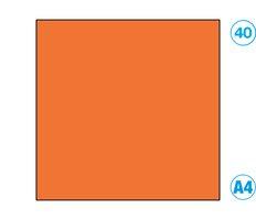 Papír A4 barevný oranžový tmavě