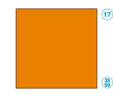 Papír barevný 35 x 50cm oranžový světle