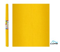 Papír krepový žlutý tmavě LUMA