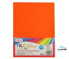 Filc A4 oranžový LUMA