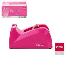 Odvíječ lepící pásky stolní DELI do 18mm E814A růžový