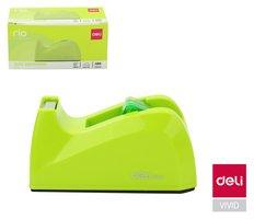 Odvíječ lepící pásky stolní DELI do 18mm E814A zelený