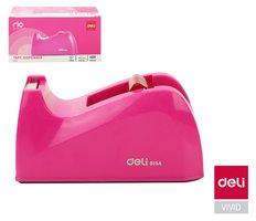 Odvíječ lepící pásky stolní DELI do 24mm E815A růžový