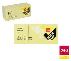 Bloček samolepící STICK UP  žlutý 38 x 51mm DELI EA00153
