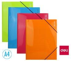 Desky na spisy s gumou, 3 klopy A4 RIO DELI E39504