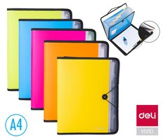 Desky na spisy A4 7 přihrádek + blok DELI E38965
