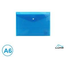 Obal spisový s klopou a drukem  A6 LUMA, modrý