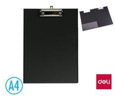 Podložka psací s klipem A4 DELI E38154B zavírací černá