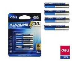 Baterie alkalická AAA mikrotužková LR03 4ks DELI E18505
