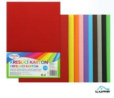 Kreslící karton barevný A4/225g mix, 50ks