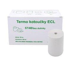 Kotouček do pokladny termocitlivý ECL 57/40 24m, EET