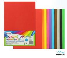 Papír barevný  mix složka 20l LUMA