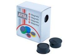 Magnety ARTA průměr 16mm, černé, 10ks/bal./cena za 1 ks/
