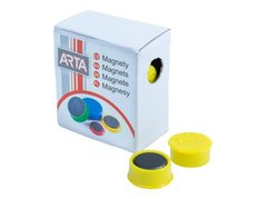 Magnety ARTA průměr 16mm, žluté, 10ks/bal./cena za 1 ks/