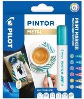 Sada PILOT Pintor Metal - M hrot 1,4 mm, 6ks 4076/S6-METAL