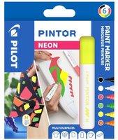 Sada PILOT Pintor Neon - M hrot 1,4 mm, 6ks 4076/S6-NEON