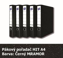 Pořadač pákový HIT A4, KV5R Classic, černý mramor, 5cm, 259.00