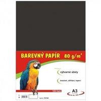 Papír A3/80g/100 černý, pro výtvarnou výchovu