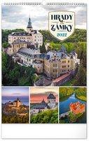Kalendář nástěnný Hrady a zámky 2022, 33 x 46 cm PGN-28937-L