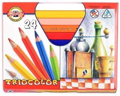 Pastelky 3154/24 TRIOCOLOR triangular lakované