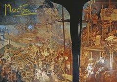 Pohled Alfons Mucha Slovanská epopej – Hájení Szigetu proti Turkům, krátký