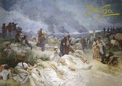 Pohled Alfons Mucha Slovanská epopej – Petr Chelčický, krátký