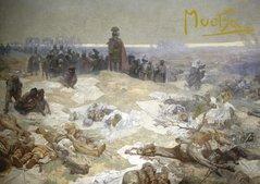 Pohled Alfons Mucha Slovanská epopej – Bitva grunwaldská, krátký