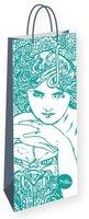 Dárková taška na lahev Alfons Mucha – Emerald, Fresh Collection