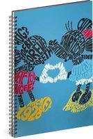 Spirálový blok Mickey – Kiss, linkovaný, A4