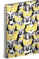 Spirálový blok Minnie – Yellow, linkovaný, A4