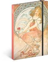 Notes Alfons Mucha – Malířství, linkovaný, 13 × 21 cm