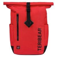 BAAGL Zavinovací batoh TERIBEAR červený
