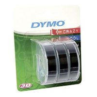 Dymo originální páska do tiskárny štítků, Dymo, S0847730, černý podklad, 3m, 9mm, 3D, 1 bl