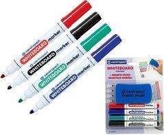 Značkovač WHITE BOARD MARKER 8559/4 color 2,5mm, sada+ magnetická houbaCENTROPEN