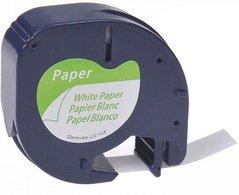 Páska Dymo, 59421, S0721500, černý tisk/bílý podklad, 4m, 12mm,LetraTag papírová páska