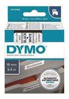Dymo originální páska do tiskárny štítků, Dymo, 45803, S0720830, černý tisk/bílý podklad,