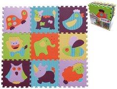 Pěnové puzzle 'Zvířata' - 9 ks, 30x30x1cm   M129A2