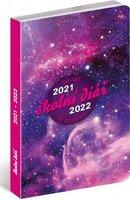 Školní diář Galaxy (září 2021 – prosinec 2022), 9,8 × 14,5 cm PGD-30250