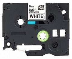 Páska BROTHER TZE-211 černý tisk/bílý podklad 6mmx8m, laminovaná